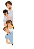 семья знамени счастливая Стоковое Изображение RF
