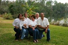 семья из нескольких поколений малая Стоковые Фотографии RF