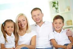 Семья из четырех человек Стоковое Изображение RF