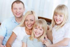 Семья из четырех человек Стоковое Фото