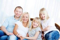 Семья из четырех человек Стоковое фото RF