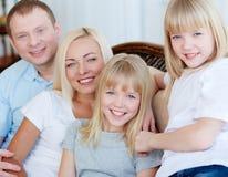 Семья из четырех человек Стоковое Изображение