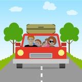 Семья идет на каникулы Стоковые Фото
