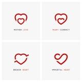 Семья и отношения - комплект логотипа влюбленности Стоковая Фотография RF