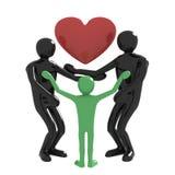 Семья и сердце Стоковое Изображение RF