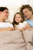 семья кровати Стоковые Фото