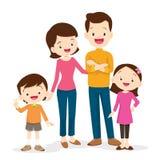 семья кукол принципиальной схемы тележки идет супермаркет покупкы металла к деревянному Стоковое Изображение