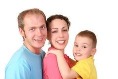 семья мальчика Стоковое Изображение RF
