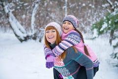 Семья матери и дочери outdoors Стоковые Изображения