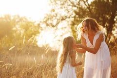 Семья Мать и дочь Стоковое Фото