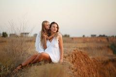 Семья Мать и дочь Стоковое фото RF