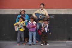 Семья музыкантов стоковое изображение rf