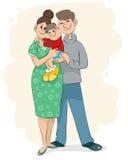 семья младенца Стоковые Изображения RF