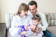 семья младенца newborn Стоковое Изображение