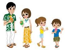 Семья наслаждается помадками лета Стоковое Изображение