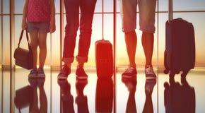Семья на авиапорте Стоковые Фотографии RF