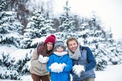 Семья на лесе Стоковое Фото