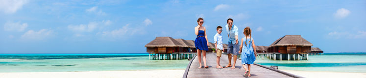 Семья на летних каникулах Стоковое фото RF