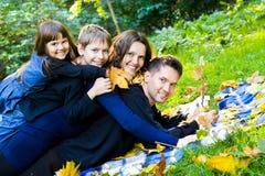 Семья на каникуле стоковое фото rf