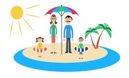 Семья на каникуле Стоковая Фотография RF