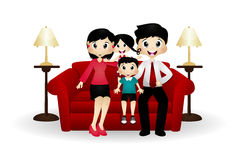 Семья на кресле Стоковая Фотография RF