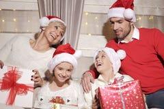 Семья на Кристмас Стоковое Изображение RF