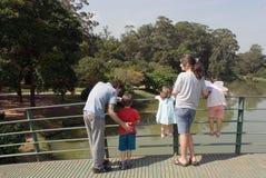 Семья на парке Стоковое Изображение RF