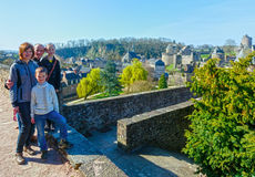 Семья на праздниках весны в Франции Стоковые Изображения RF