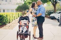 Семья на прогулке Стоковое фото RF