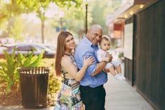 Семья на прогулке Стоковые Изображения