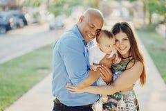 Семья на прогулке Стоковое Изображение