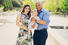 Семья на прогулке Стоковое Фото