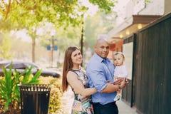 Семья на прогулке Стоковая Фотография