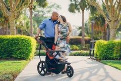 Семья на прогулке Стоковые Изображения RF