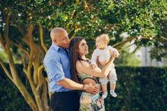 Семья на прогулке Стоковые Фото
