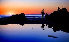 Семья на пляже Стоковое Изображение