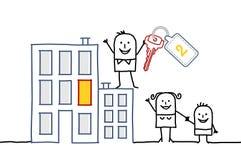 Семья & новый дом иллюстрация вектора