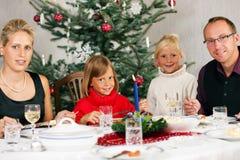 семья обеда рождества имея Стоковое Фото