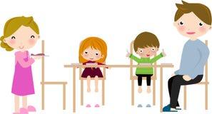 семья обеда Стоковые Изображения
