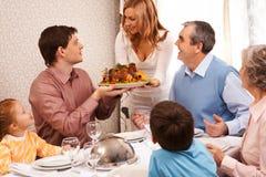 семья обеда Стоковые Фото