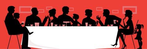 семья обеда бесплатная иллюстрация