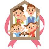 Семья дома Стоковая Фотография