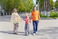 Семья отец и сын матери Стоковое фото RF