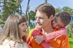 Семья отец и сын матери Стоковые Изображения RF