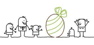 семья пасхи иллюстрация штока
