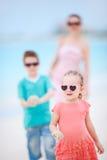 семья пляжа тропическая Стоковое Изображение RF