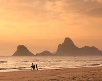 семья пляжа Стоковое Фото
