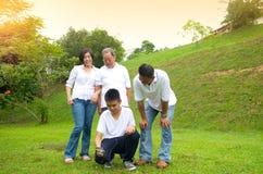 Семья поколения азиата 3 Стоковые Изображения RF