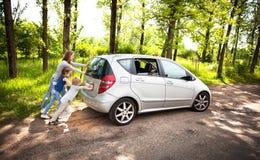 Семья потехи дружелюбная на пикнике Нервное расстройство автомобиля Стоковое Изображение