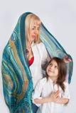 Семья под шалью Стоковые Фотографии RF